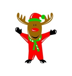 Reindeer deer retro vector
