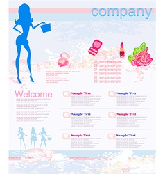 Fashion shopping website template vector