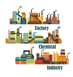 Chemical and industrial factories vector image