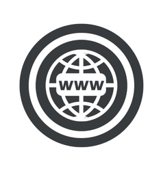 Round black global network sign vector