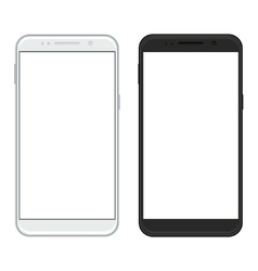 Modern realistic smartphones on white vector