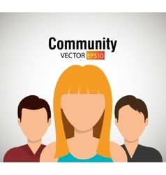 Community and people graphic vector