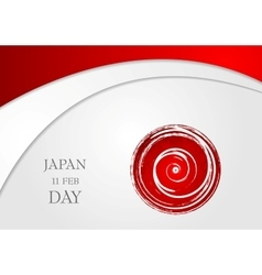 Bright wavy abstract background japan day vector