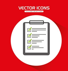 Checklist icon design vector