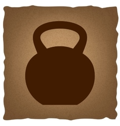 Fitness dumbbell sign vector