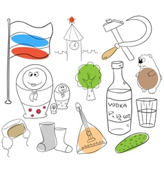 Russian collection vector image