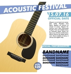 Acoustic festival performance poster in your club vector image vector image