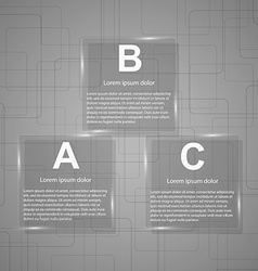 Business Glass Infographic vector image