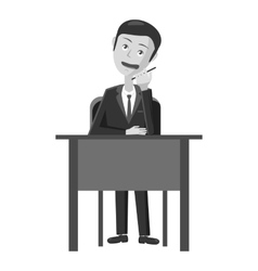 Businessman working at table icon vector image