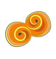 Clip art saffron bun vector