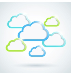 Clouds background Eps10 vector image vector image