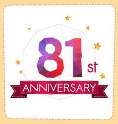 Colorful polygonal anniversary logo 2 081 vector