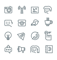 Communication and Networking Icons vector image vector image