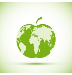 Earth apple shape vector image