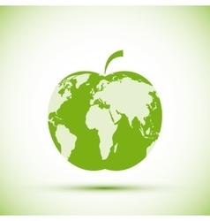 Earth apple shape vector image vector image