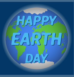 Earth day poster with the earth day vector