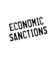 Economic sanctions rubber stamp vector