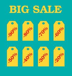 flat design sale discount sale vector image