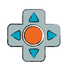 Gamepad cross isolated vector