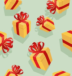 Gift boxes Seamless pattern background for vector image vector image