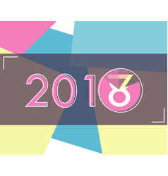happy new year loading 2018 abstract background vector image