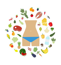 Health food beautiful body vector