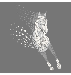 Horse particles icon vector image vector image