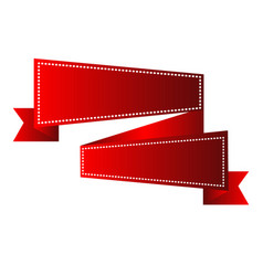 Isolated empty ribbon vector