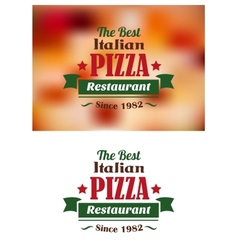 Italian pizza restaurant label vector
