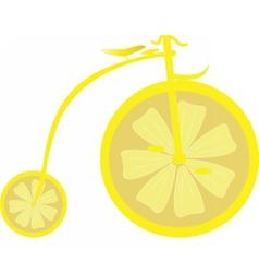 Lemon bicycle vector