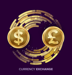 money currency exchange dollar gbp vector image