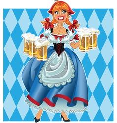 Oktoberfest girl on background vector image vector image