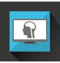 Pc device medical concept head brain vector