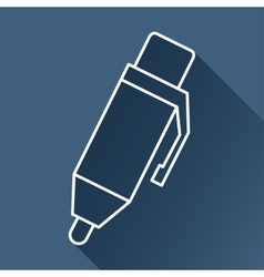 pen icon Eps10 vector image vector image