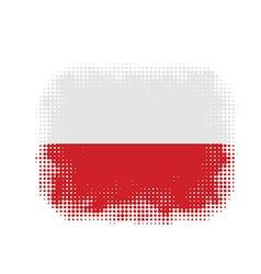 Poland flag symbol halftone vector image vector image