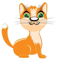 Redhead kitten vector image vector image