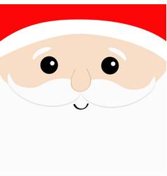 santa claus big head face white beard moustaches vector image