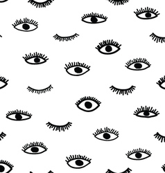 Seamless eye pattern in the bohemian style vector