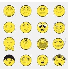 Set of emoji characters vector