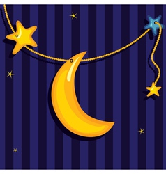 sweet dreams background vector image vector image