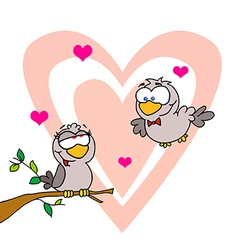 Two Turtle Doves vector image