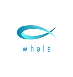 Whale animal mockup logo abstract graphic symbol vector image