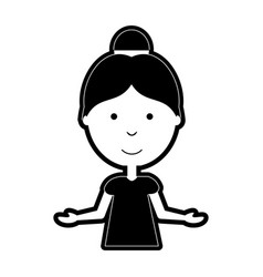 Woman with open arms vector