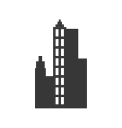 City silhouette urban building towers icon vector