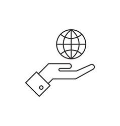 Globe icon outline vector image