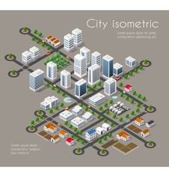 Transportation 3d city vector