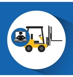 Delivery call centre operator online forklift vector