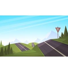 Mountain road vector