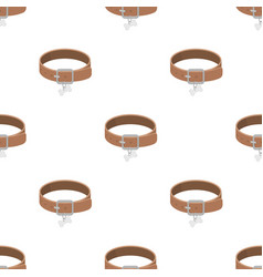 Dog collar icon in cartoon style isolated on white vector