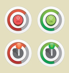 Power on of button bar vector
